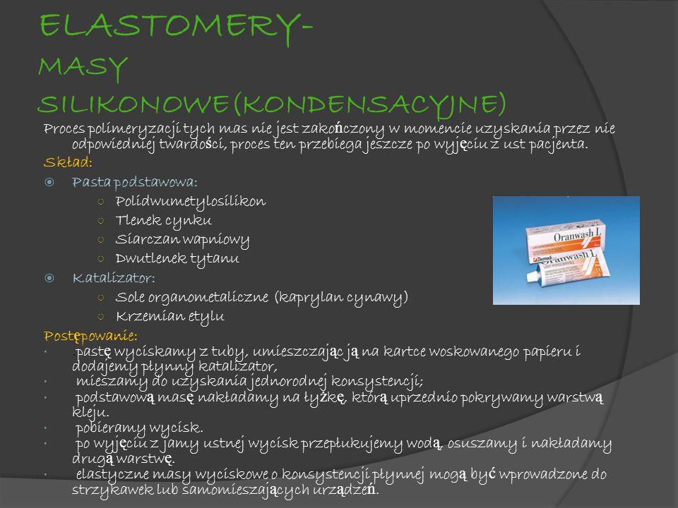 ELASTOMERY- MASY SILIKONOWE(KONDENSACYJNE)