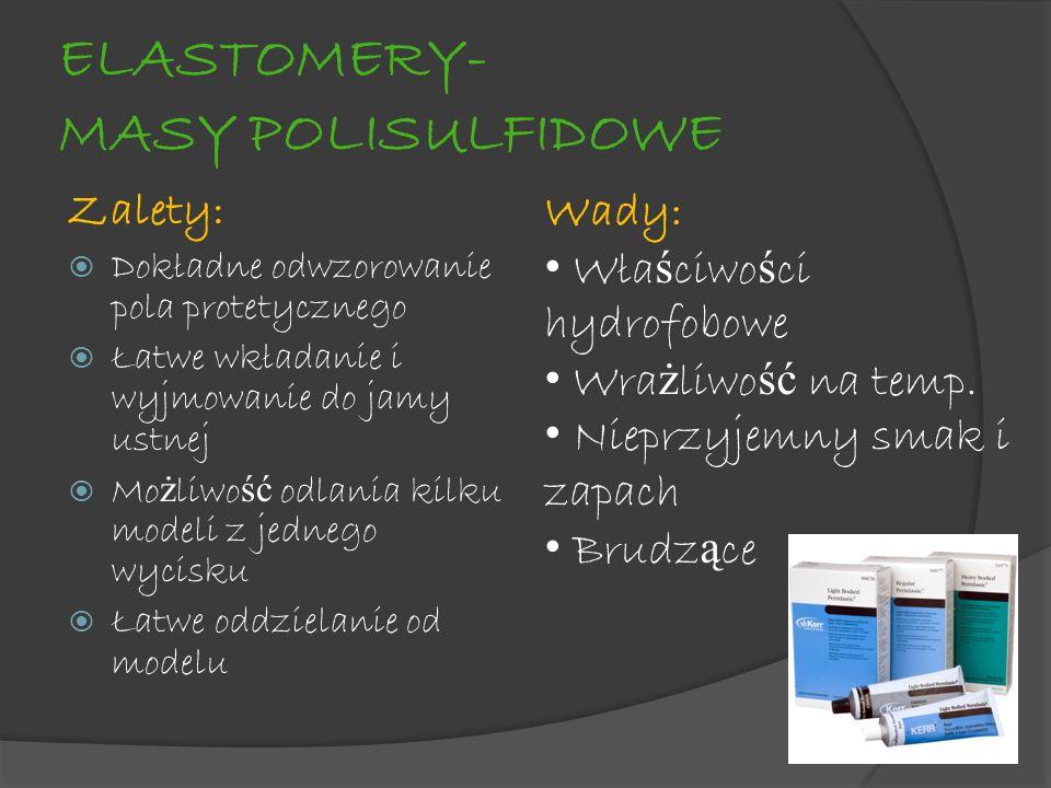 ELASTOMERY- MASY POLISULFIDOWE