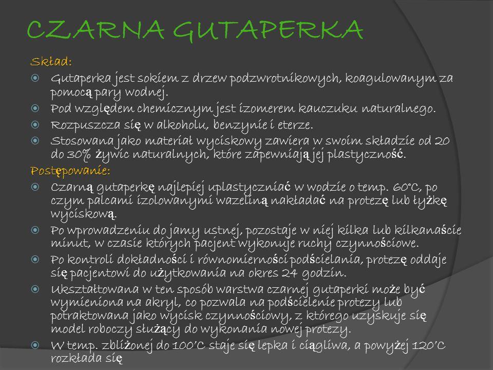 CZARNA GUTAPERKA Skład: