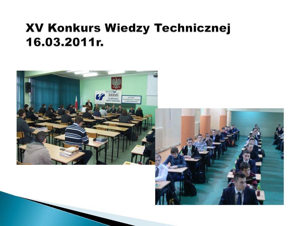 XV Konkurs Wiedzy Technicznej 16.03.2011r.