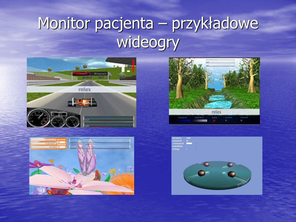 Monitor pacjenta – przykładowe wideogry