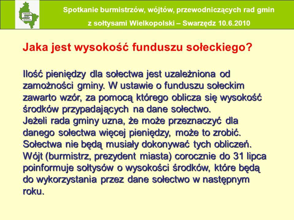 Jaka jest wysokość funduszu sołeckiego