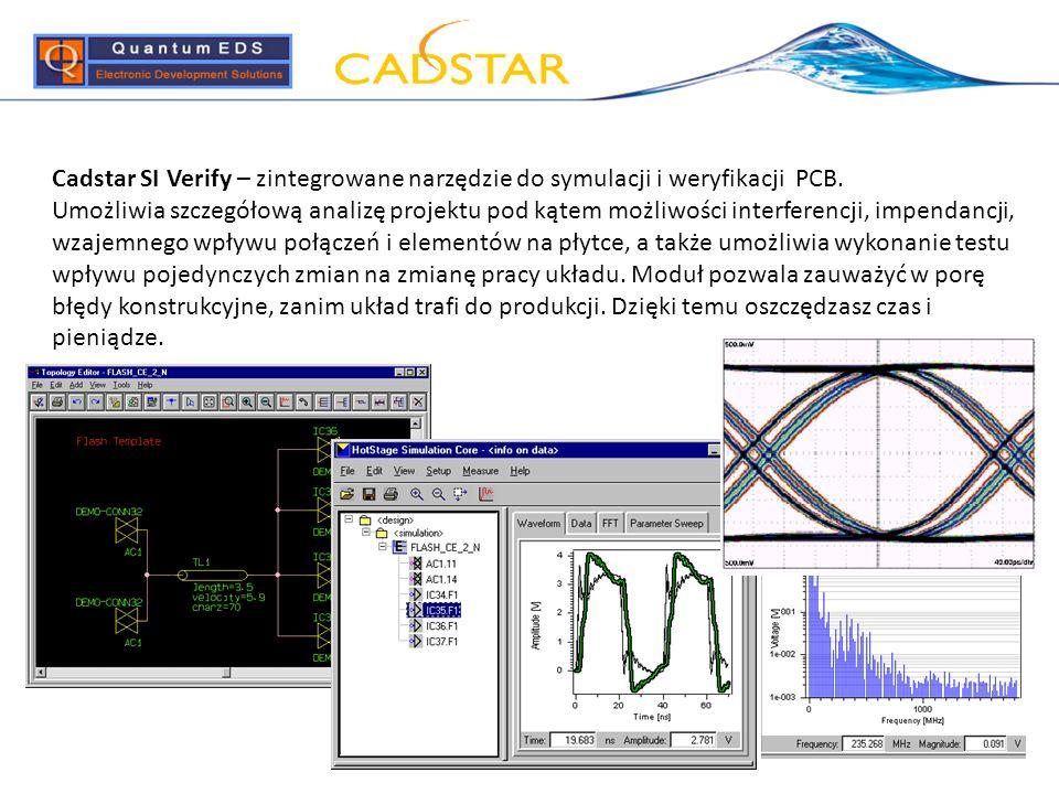 Cadstar SI Verify – zintegrowane narzędzie do symulacji i weryfikacji PCB.