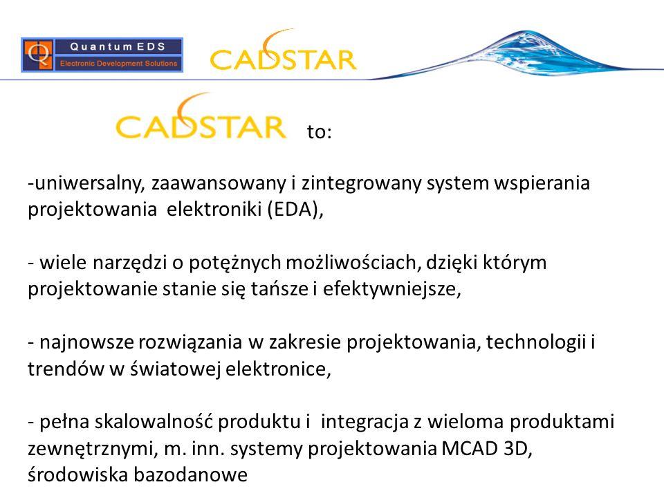 to: uniwersalny, zaawansowany i zintegrowany system wspierania projektowania elektroniki (EDA),