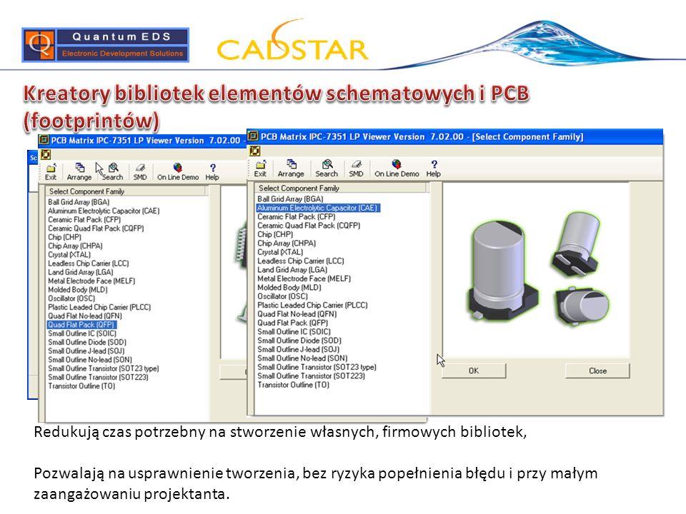 Kreatory bibliotek elementów schematowych i PCB (footprintów)