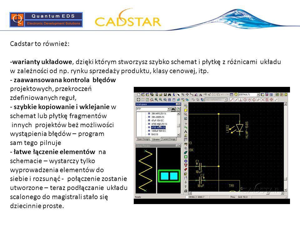 Cadstar to również:
