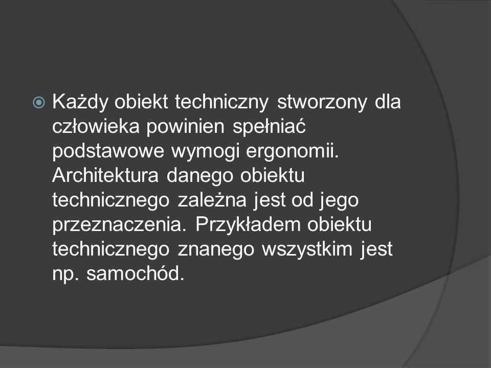 Każdy obiekt techniczny stworzony dla człowieka powinien spełniać podstawowe wymogi ergonomii.