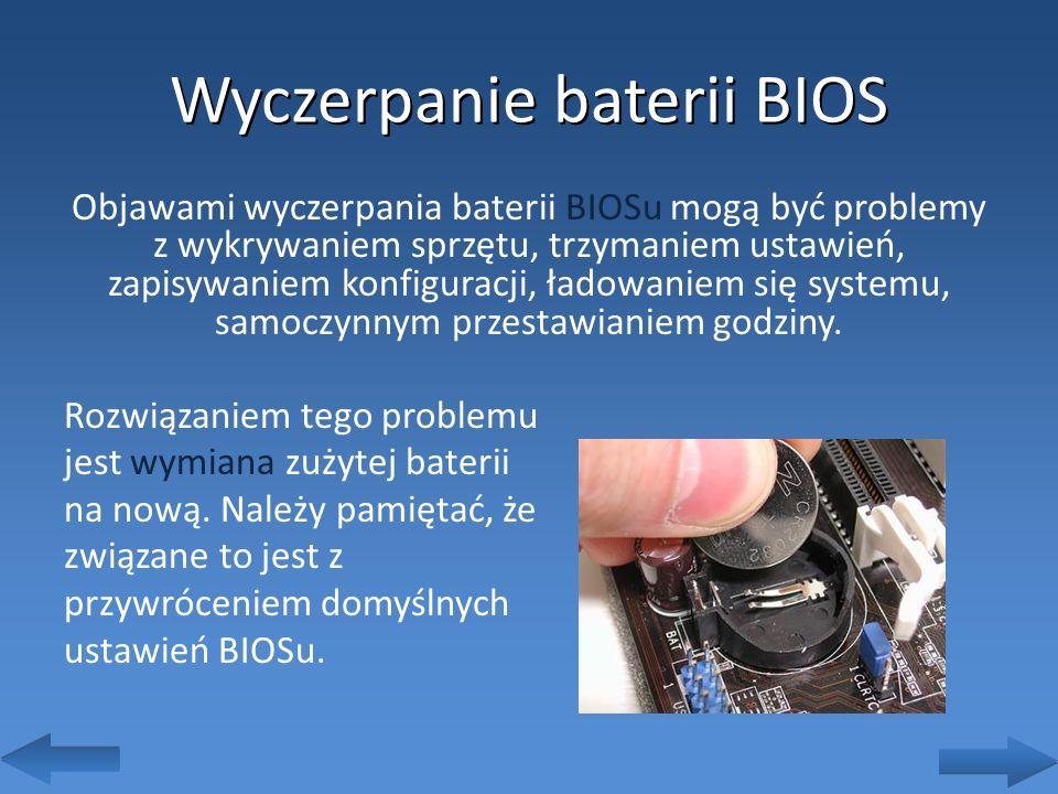 Wyczerpanie baterii BIOS