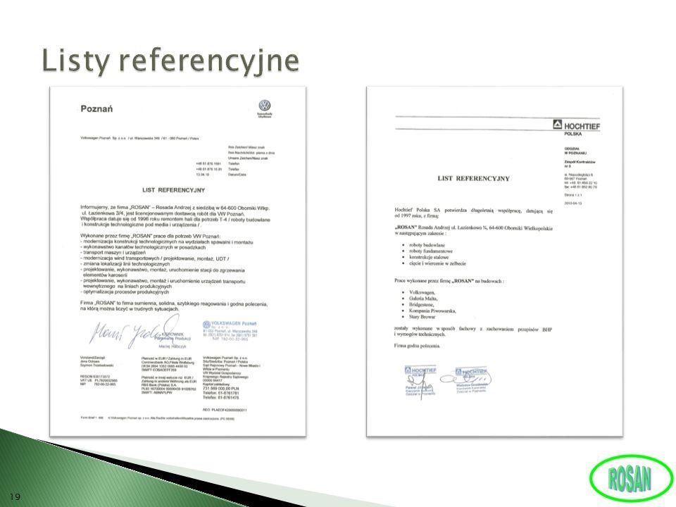 Listy referencyjne