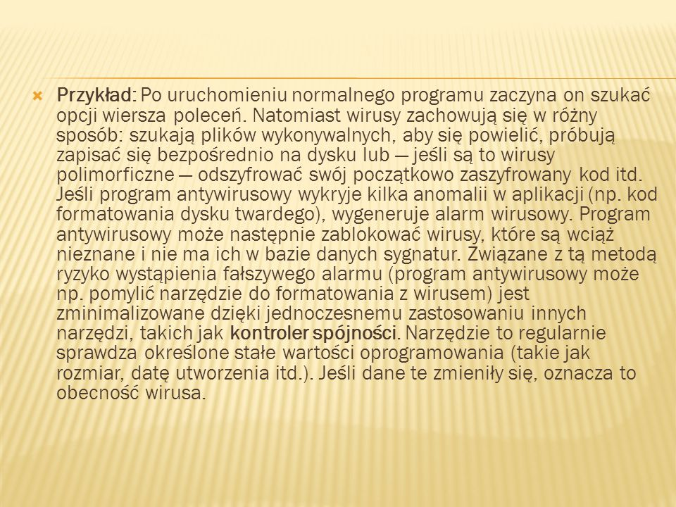 Przykład: Po uruchomieniu normalnego programu zaczyna on szukać opcji wiersza poleceń.