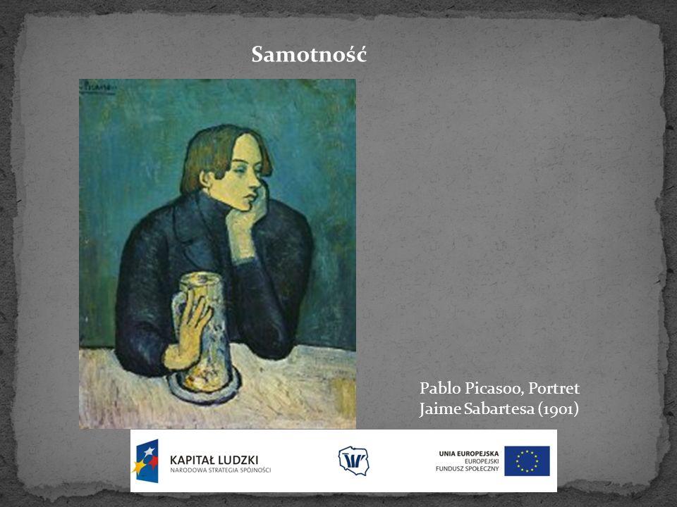 Samotność Pablo Picasoo, Portret Jaime Sabartesa (1901)