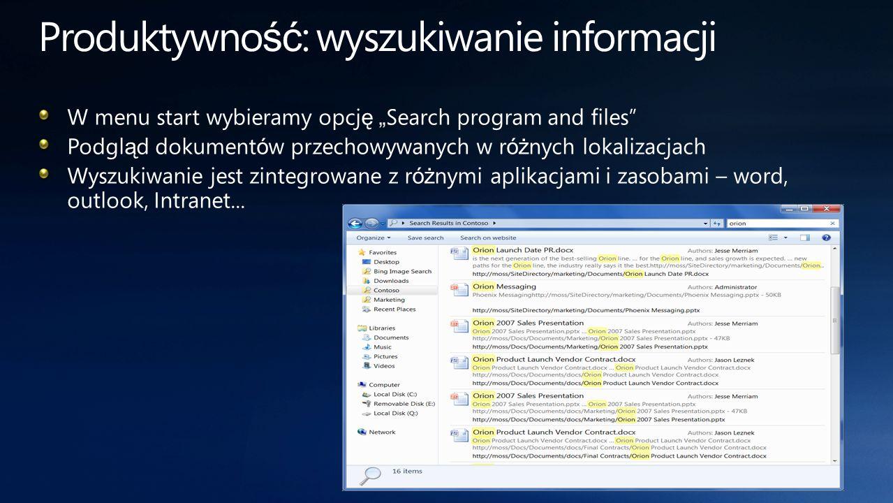 Produktywność: wyszukiwanie informacji