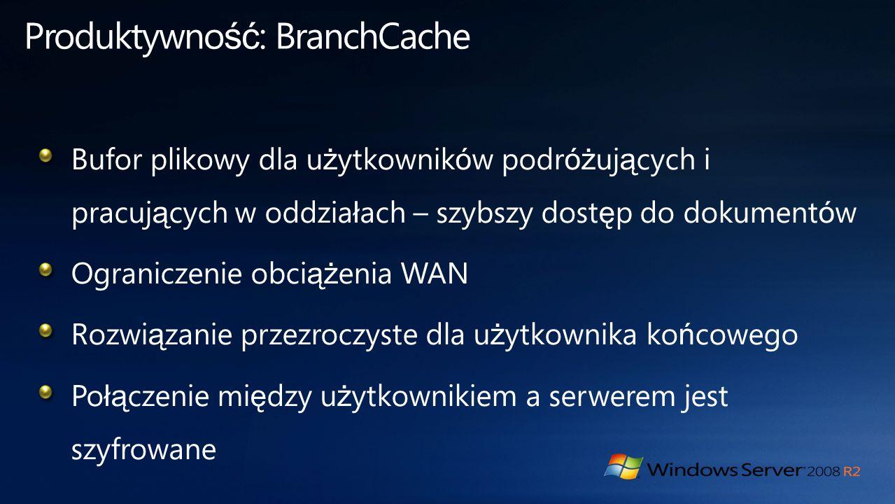Produktywność: BranchCache