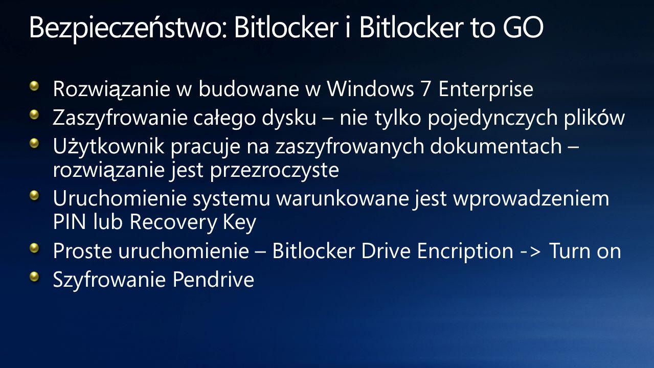 Bezpieczeństwo: Bitlocker i Bitlocker to GO
