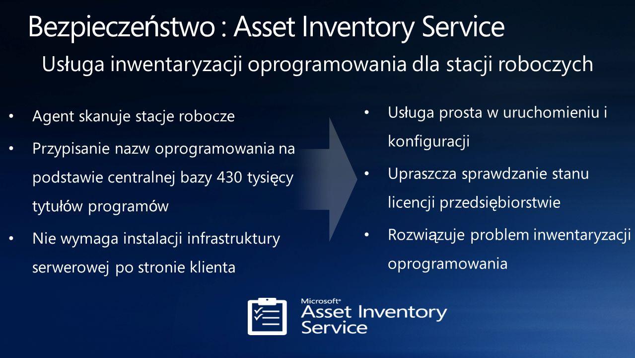 Bezpieczeństwo : Asset Inventory Service