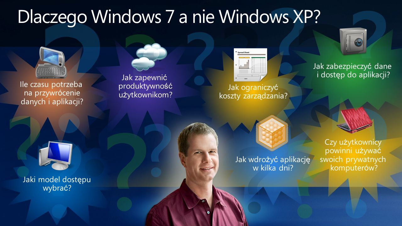Dlaczego Windows 7 a nie Windows XP