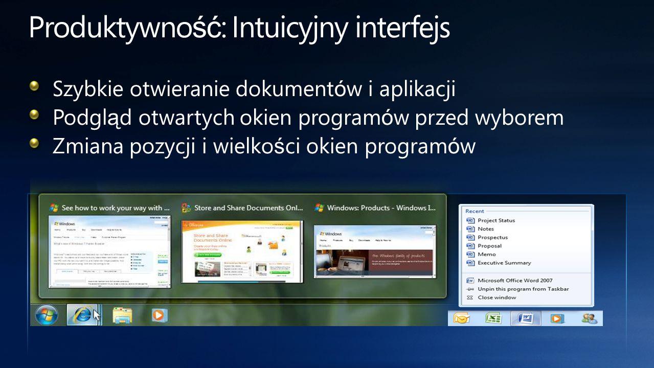 Produktywność: Intuicyjny interfejs