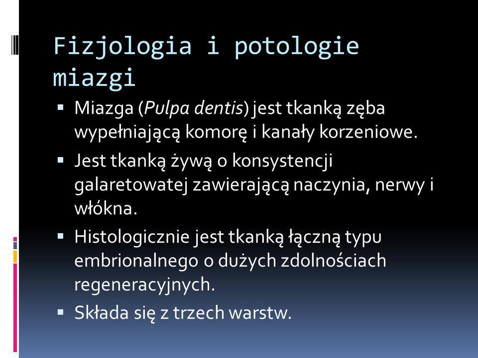 Fizjologia i potologie miazgi