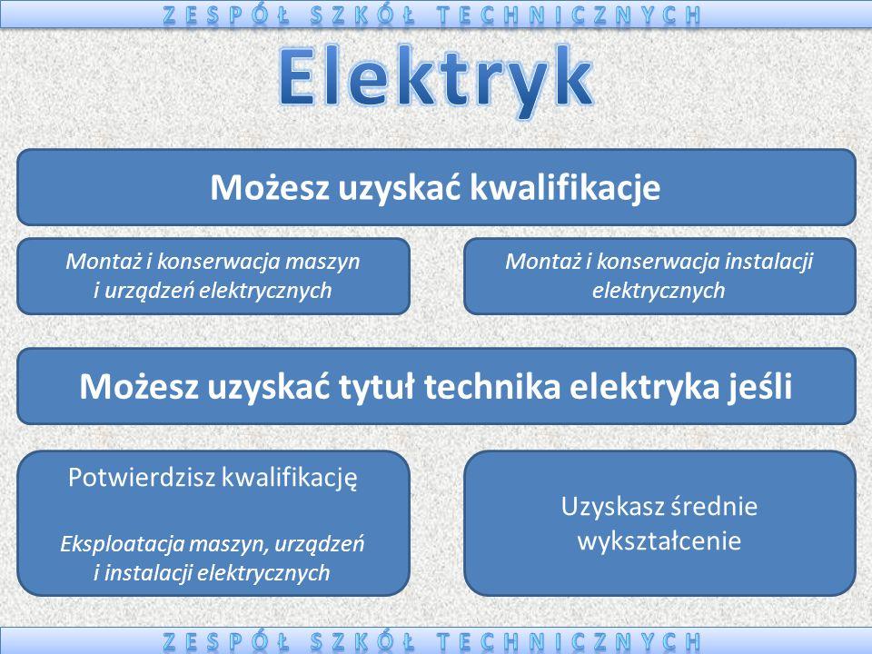 Elektryk Możesz uzyskać kwalifikacje