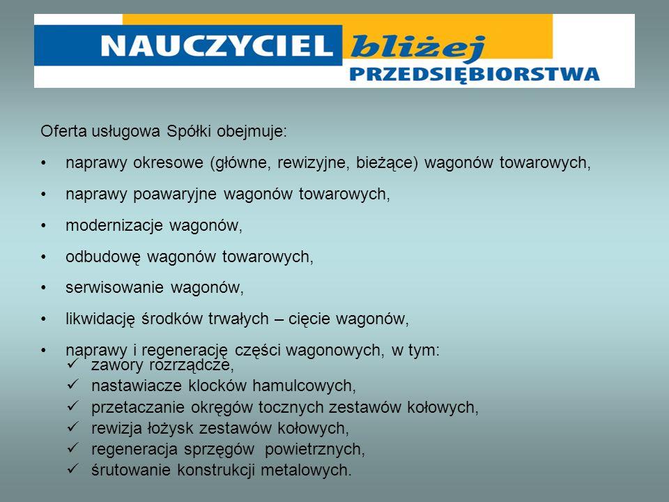 Oferta usługowa Spółki obejmuje: