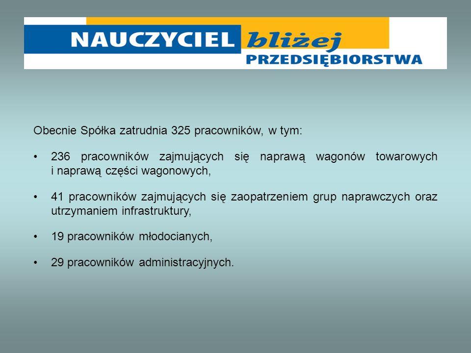 Obecnie Spółka zatrudnia 325 pracowników, w tym: