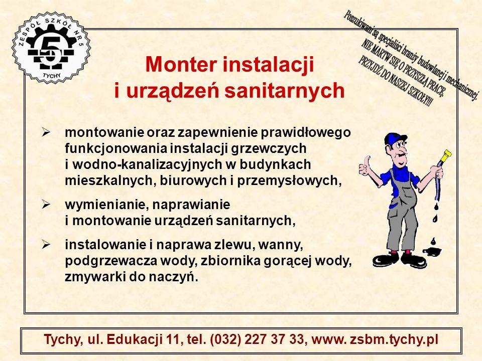 Monter instalacji i urządzeń sanitarnych