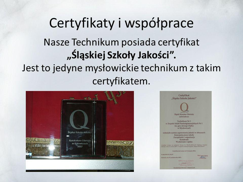 Certyfikaty i współprace