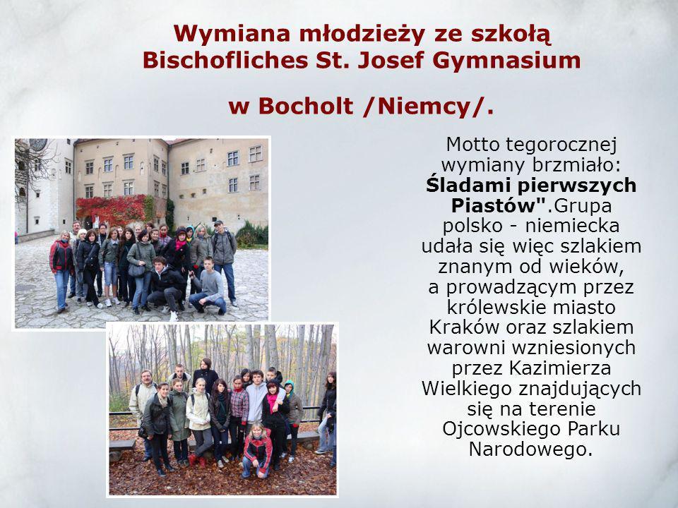 Wymiana młodzieży ze szkołą Bischofliches St