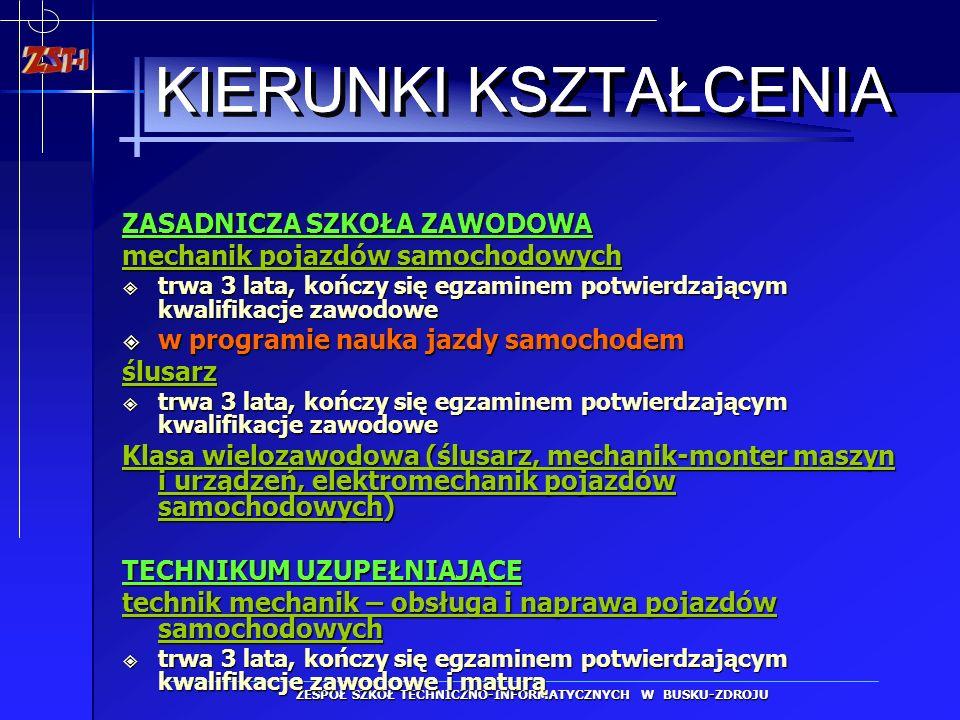 ZESPÓŁ SZKÓŁ TECHNICZNO-INFORMATYCZNYCH W BUSKU-ZDROJU