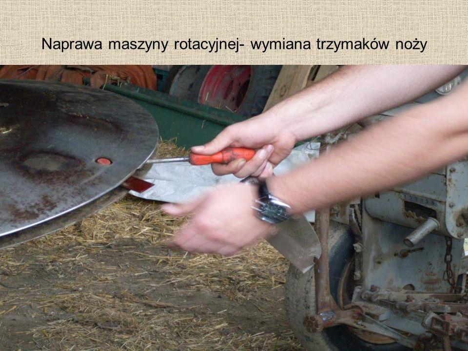 Naprawa maszyny rotacyjnej- wymiana trzymaków noży