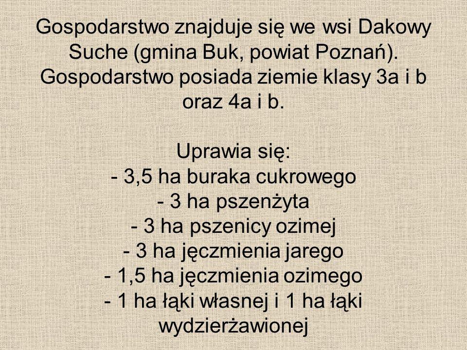 Gospodarstwo znajduje się we wsi Dakowy Suche (gmina Buk, powiat Poznań).