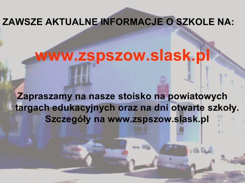 www.zspszow.slask.pl ZAWSZE AKTUALNE INFORMACJE O SZKOLE NA:
