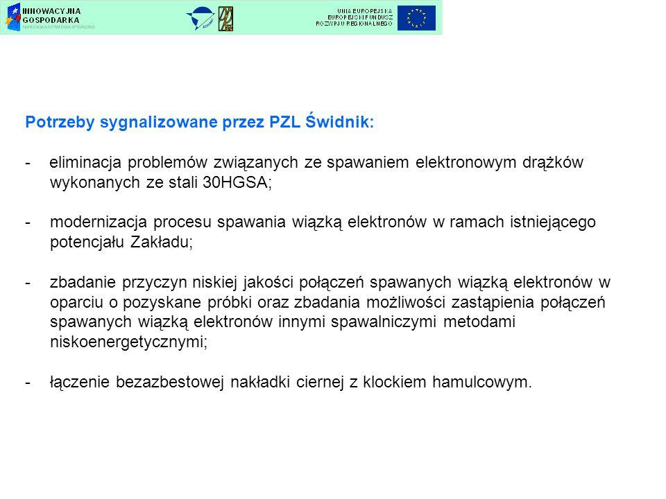 Potrzeby sygnalizowane przez PZL Świdnik: