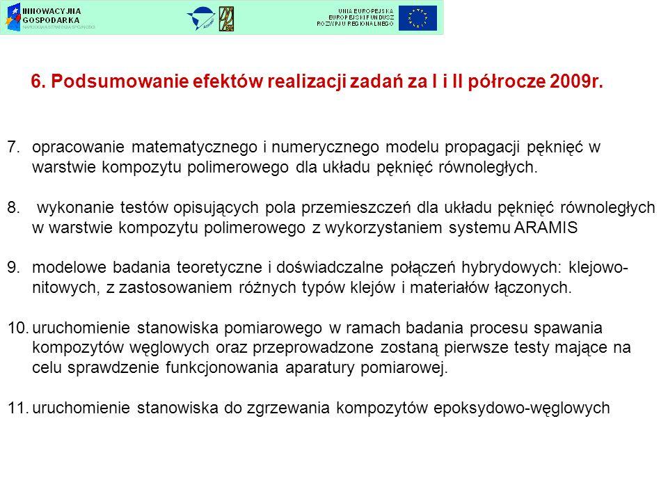 6. Podsumowanie efektów realizacji zadań za I i II półrocze 2009r.