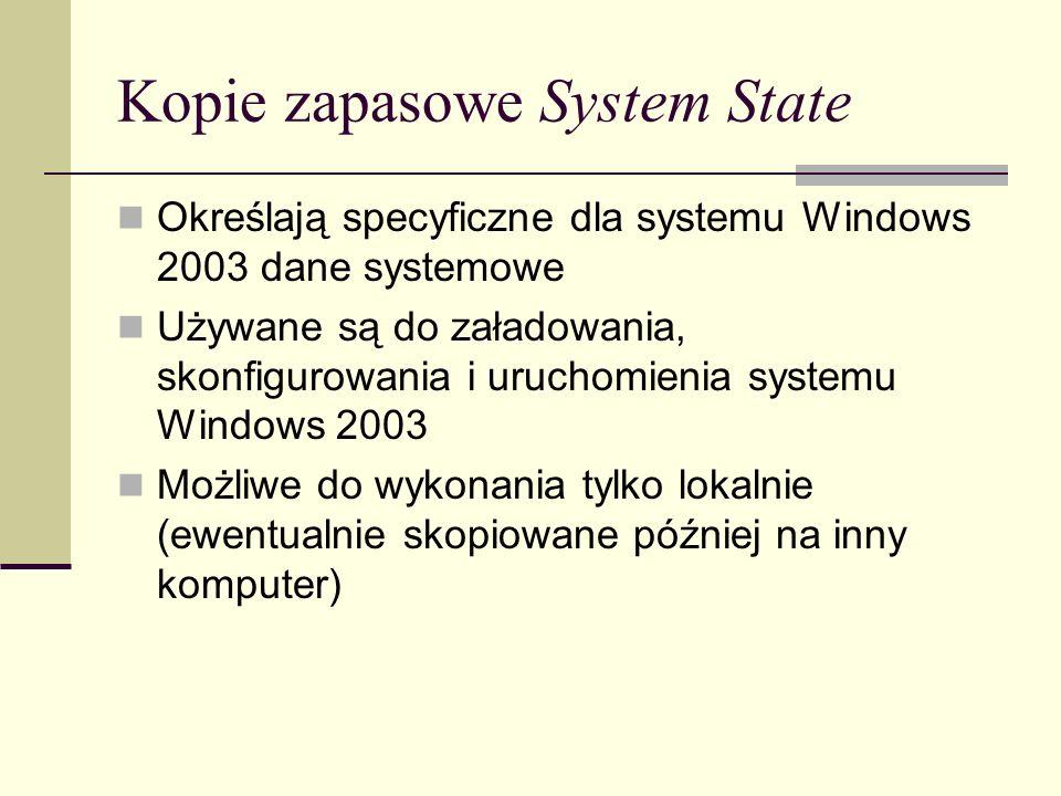 Kopie zapasowe System State
