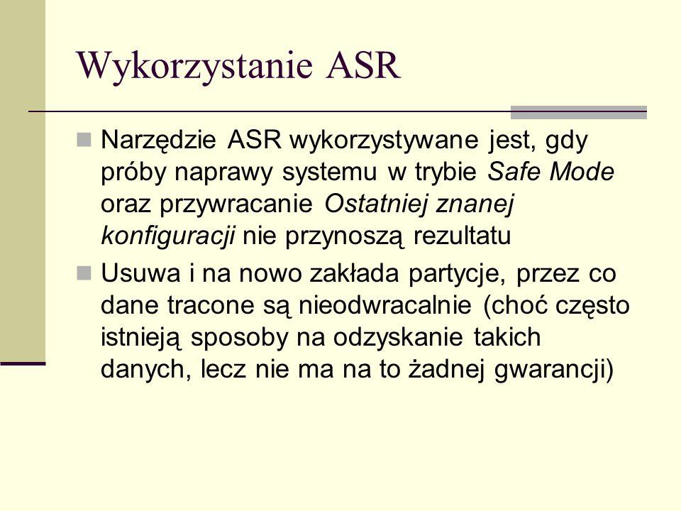 Wykorzystanie ASR