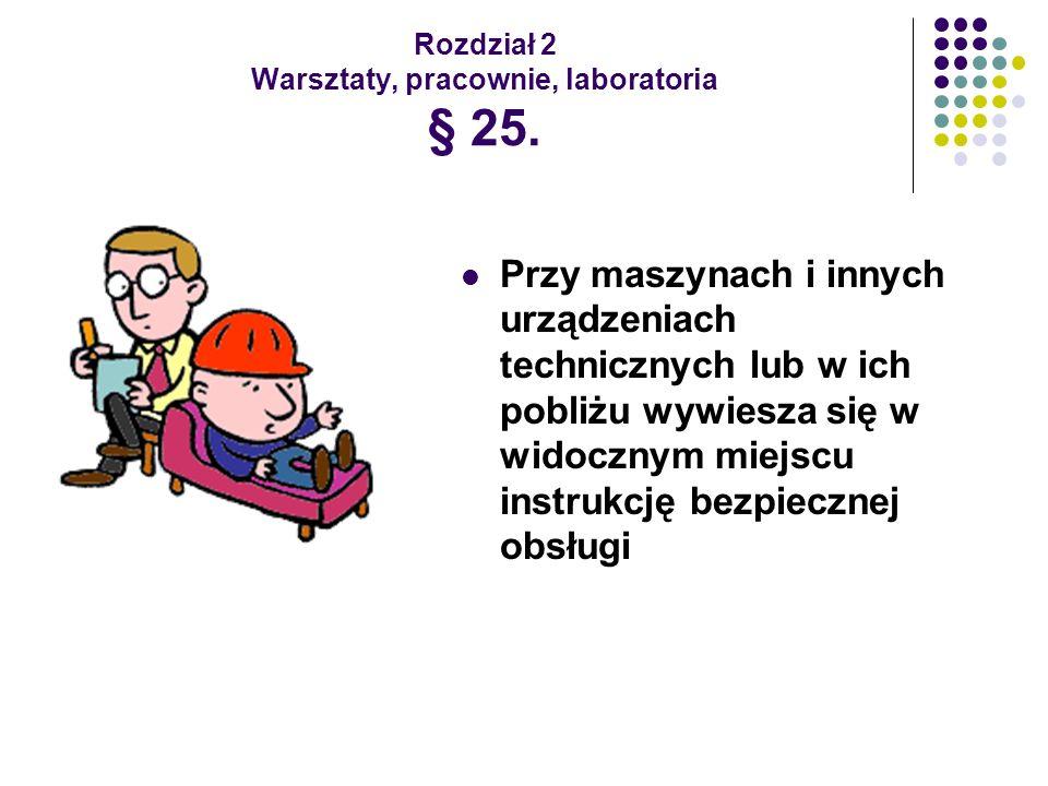 Rozdział 2 Warsztaty, pracownie, laboratoria § 25.