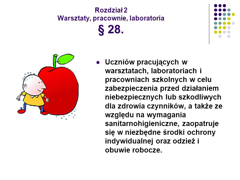 Rozdział 2 Warsztaty, pracownie, laboratoria § 28.