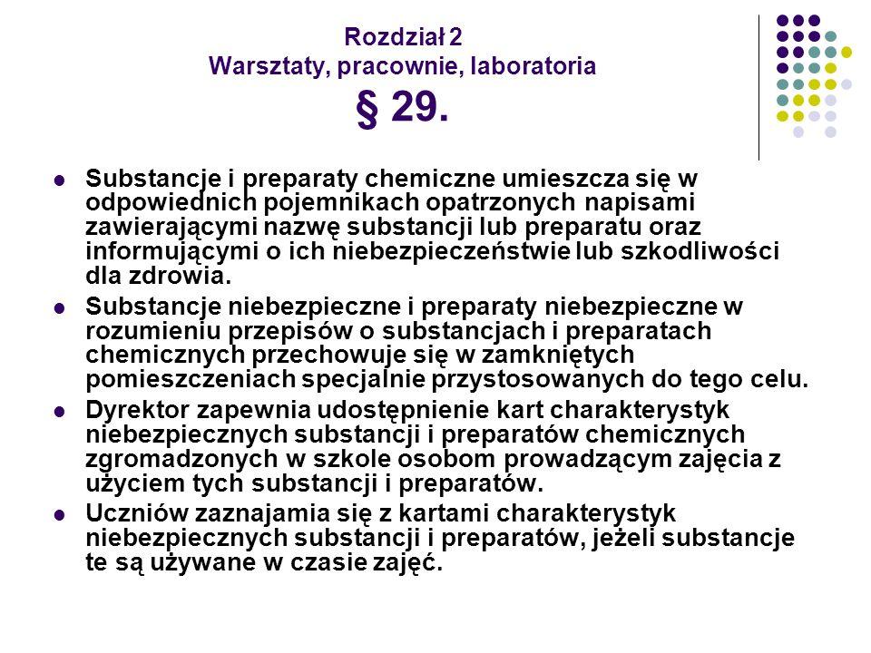 Rozdział 2 Warsztaty, pracownie, laboratoria § 29.