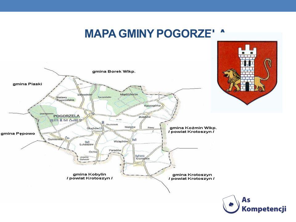 Mapa Gminy Pogorzela