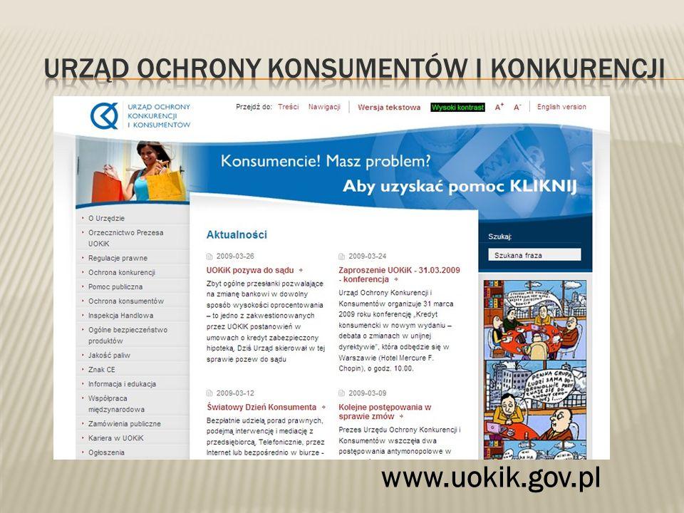 Urząd Ochrony konsumentów i konkurencji