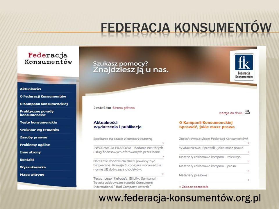 Federacja konsumentów
