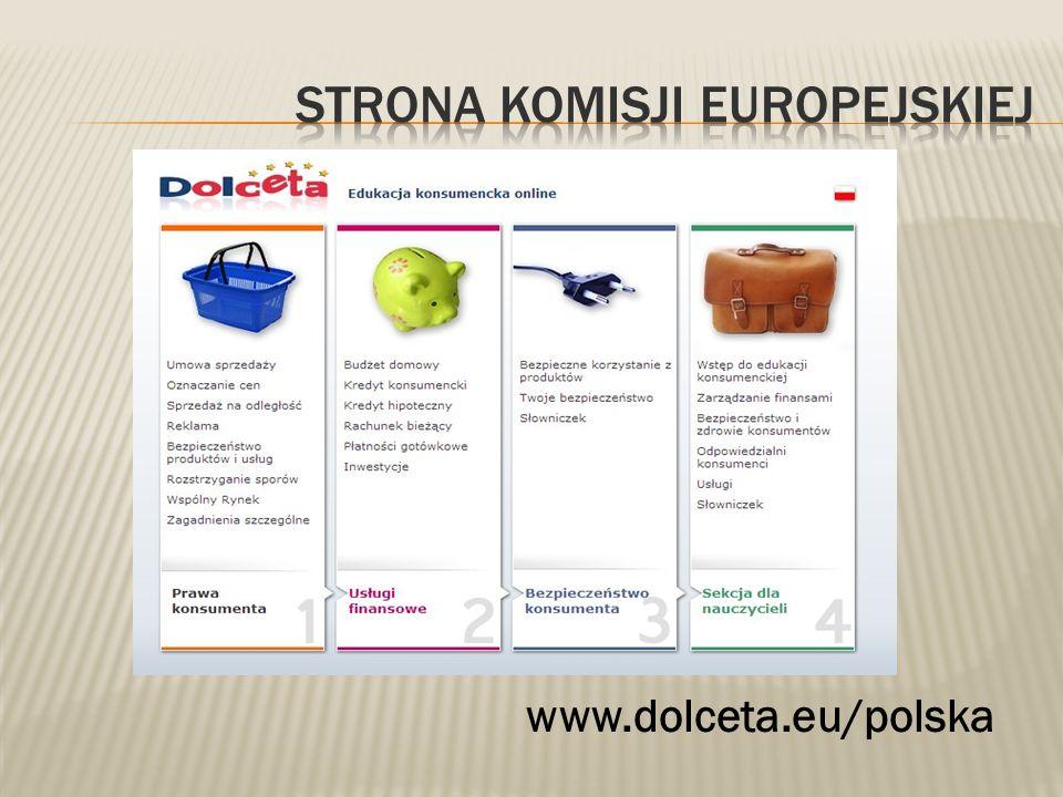 Strona komisji europejskiej