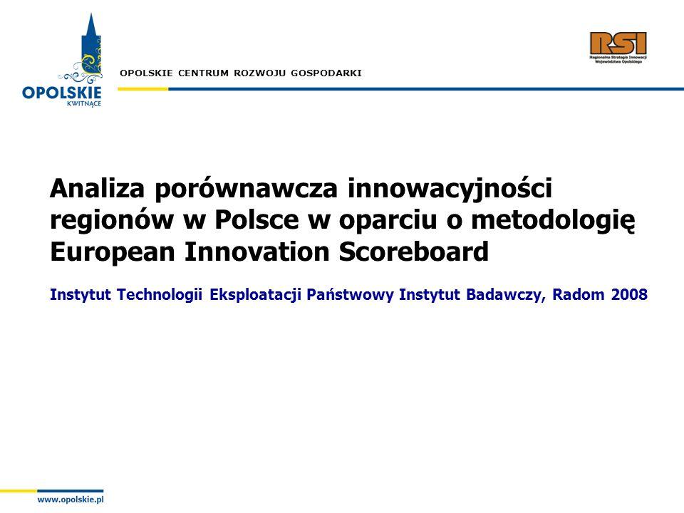 Analiza porównawcza innowacyjności regionów w Polsce w oparciu o metodologię European Innovation Scoreboard