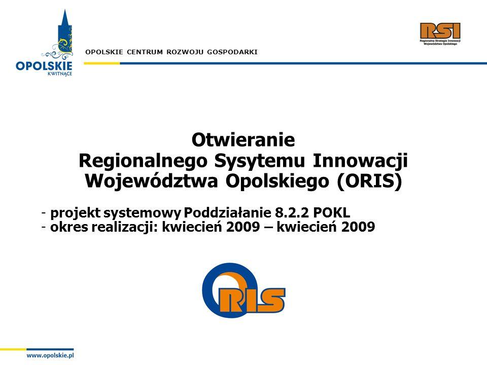 Otwieranie Regionalnego Sysytemu Innowacji Województwa Opolskiego (ORIS)