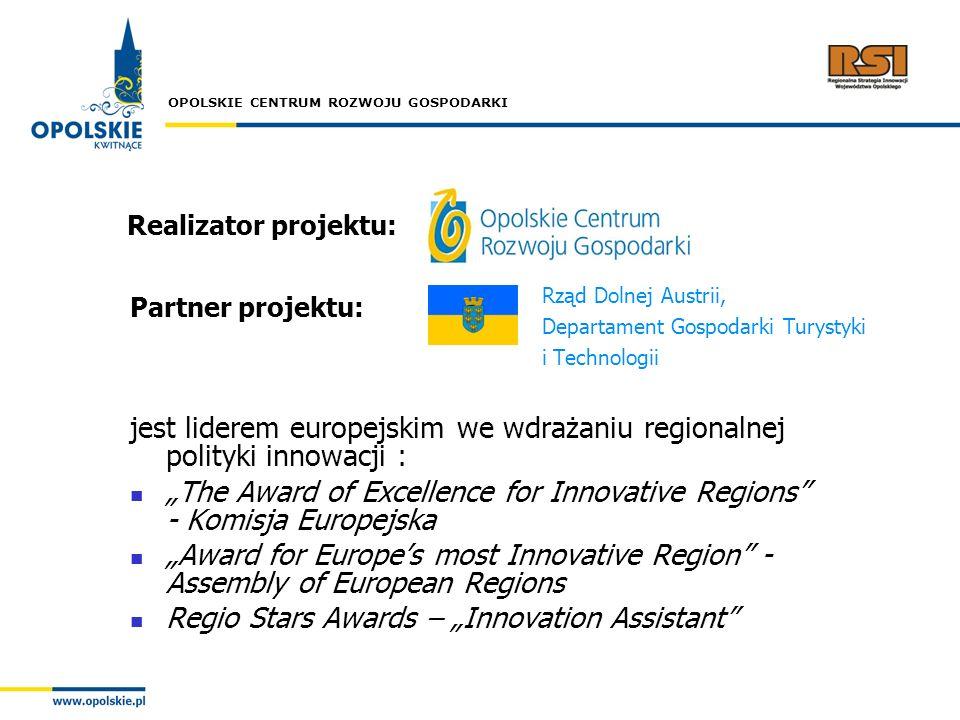 jest liderem europejskim we wdrażaniu regionalnej polityki innowacji :