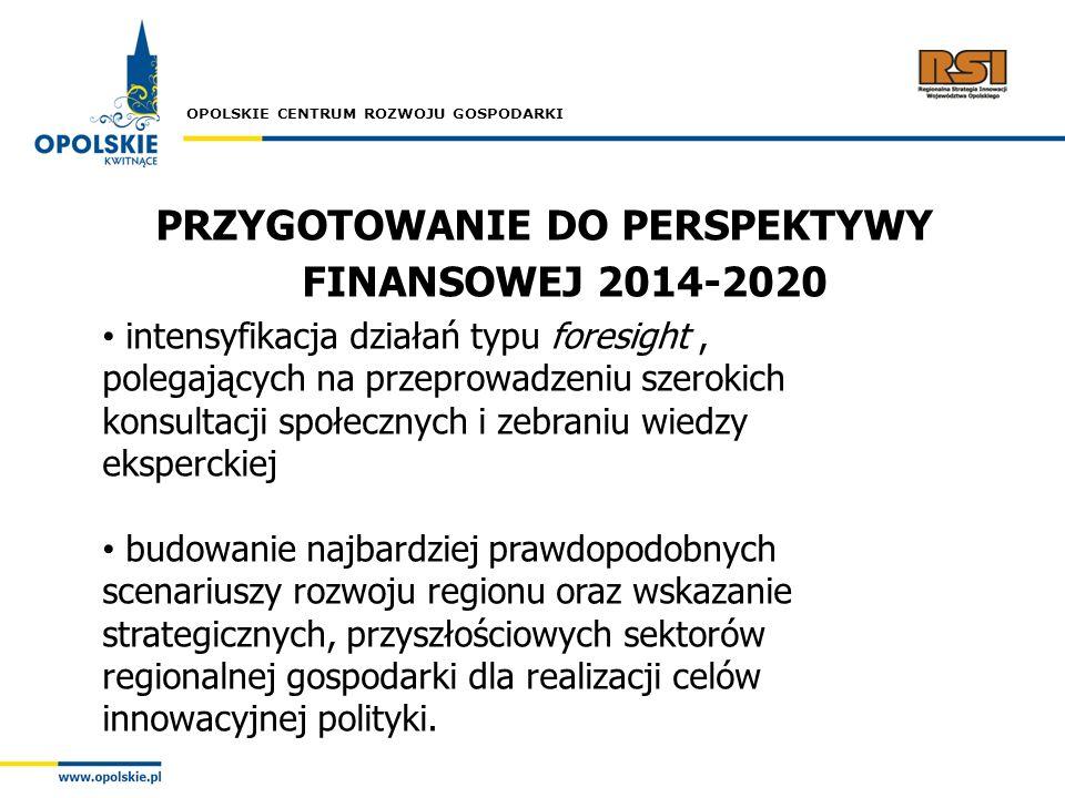 PRZYGOTOWANIE DO PERSPEKTYWY FINANSOWEJ 2014-2020
