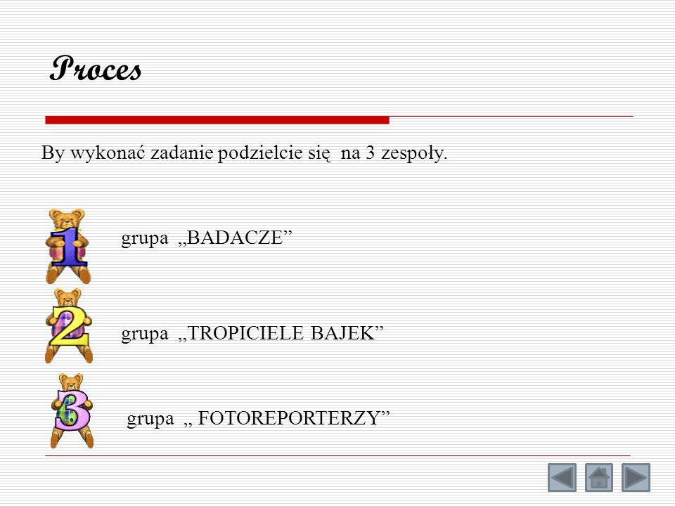 """Proces By wykonać zadanie podzielcie się na 3 zespoły. grupa """"BADACZE"""