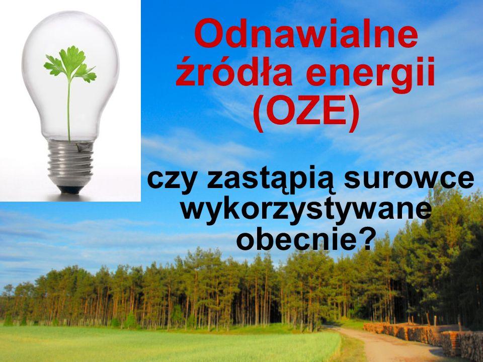 Odnawialne źródła energii (OZE) czy zastąpią surowce wykorzystywane obecnie
