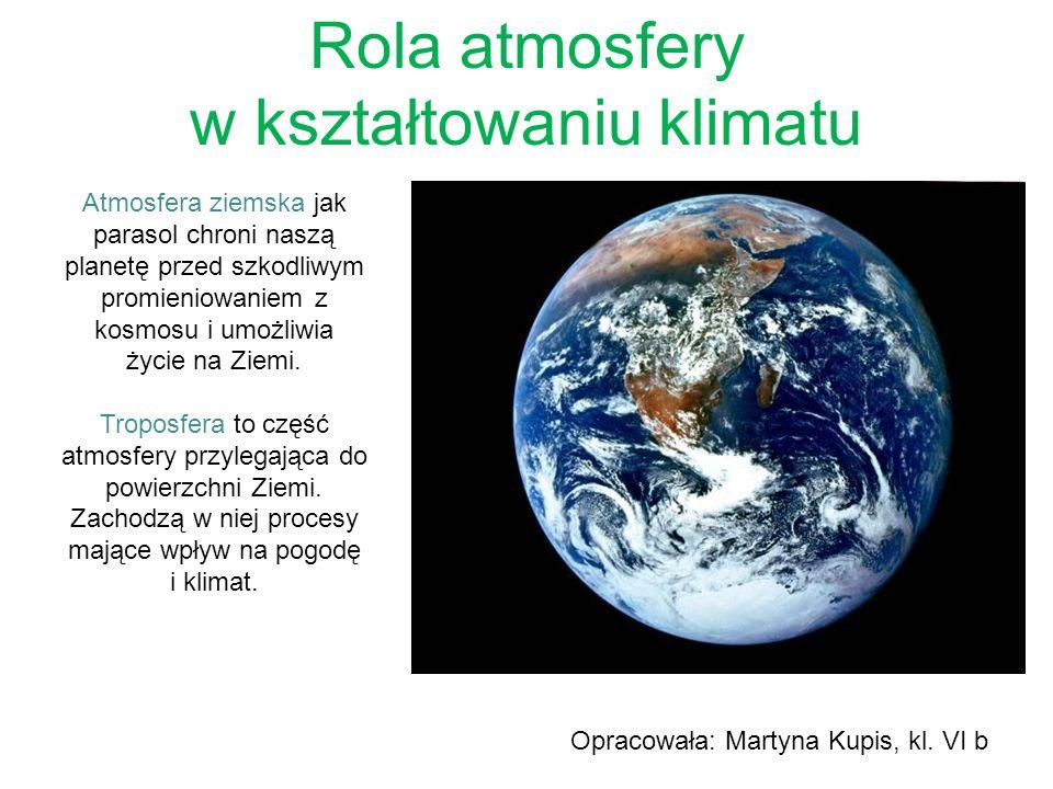 Rola atmosfery w kształtowaniu klimatu